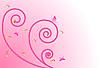 粉红色的花设计 | 向量插图
