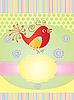 鸟的邀请卡 | 向量插图