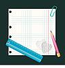 Bleistift und Lineal