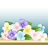 一束鲜花 | 向量插图