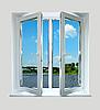 Otworzyć okno z tworzywa sztucznego z rodzaju na rzece   Stock Foto