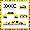Vector clipart: taxi signs