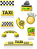Vector clipart: symbols of taxi
