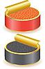 Kaviar rot und schwarz