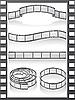 Filmstripe 아이콘을 설정 | Stock Vector Graphics