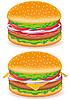 Hamburger und Cheeseburger