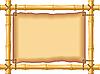 Rahmen aus Bambus und altes Pergament