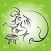 ID 3045268 | Słoń z filiżanką herbaty | Klipart wektorowy | KLIPARTO