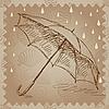 ID 3045694 | Regenschirm im Regen | Illustration mit hoher Auflösung | CLIPARTO