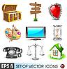 ID 3045698 | Set von Icons | Stock Vektorgrafik | CLIPARTO