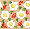Nahtloses Frühstück-Muster
