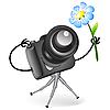 Nette Kamera mit Blume