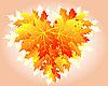 Herbstliches Herz aus Blättern