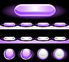 Set von Web-Buttons