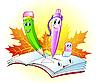 Nette Bleistift, Stift und Radierer