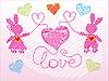 ID 3046409 | 粉红色的小兔子 | 向量插图 | CLIPARTO