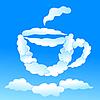 Tasse Tee oder Kaffee aus Wolken