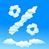 ID 3053174 | Prozent-Zeichen aus Wolken | Stock Vektorgrafik | CLIPARTO
