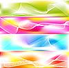 Set von 4 abstrakten Bannern