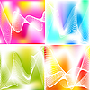 Set von vier abstrakten Hintergründen