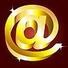 Goldenes E-Mail-Zeichen