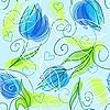 nahtloser Hintergrund mit Blumen