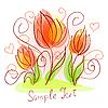 Nette rosige Blumenkarte