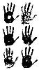 Set von Handabdrücken