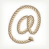 ID 3073545 | E-Mail-Zeichen aus dem Seil | Stock Vektorgrafik | CLIPARTO