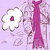 Mädchen mit langem Schal