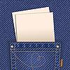 Jeans-Tasche mit Papierchen