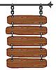 Holz-Schild