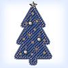 Jeans-Weihnachtsbaum
