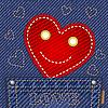 Nettes Herz in Jeans-Tasche