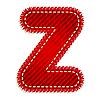 Vektor Cliparts: Roter Textil-Buchstabe Z