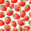 Vektor Cliparts: Strawberry nahtlose Hintergrund