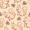 ID 3145471 | 다람쥐와 너트 원활한 패턴 | 벡터 클립 아트 | CLIPARTO
