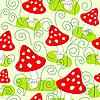 Nahtloses Muster mit Pilzen