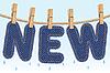 ID 3196621 | NEU Jeans Trocknen auf Wäscheleine | Stock Vektorgrafik | CLIPARTO