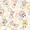 Child drawing seamless pattern