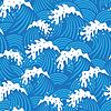 Nahtloses Muster mit Wellen