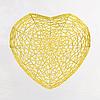 Goldenes Herz   Stock Illustration