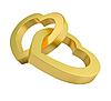 ID 3040216 | Золотые сердца на белом | Иллюстрация большого размера | CLIPARTO