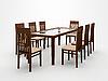 Tisch und Stühle | Stock Illustration