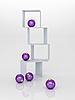 Fioletowe bombki i pudełka | Stock Illustration
