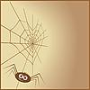 Spinngewebe in Form eines Herzens und Spinne | Stock Vektrografik
