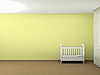 Weißes Kinderbett   Stock Illustration