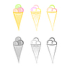 Ice-cream. Set s