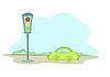 Ein Auto und Ampel