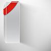Weißer Kasten mit rotem Band | Stock Vektrografik